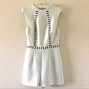 Top Shop White Romper with Hardware Size 2
